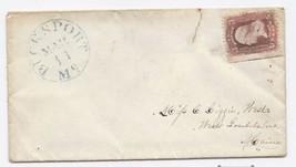 c1862 Bucksport ME Vintage Post Office Postal Cover - $9.95