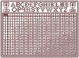 Redwork Multiplication Sampler PDF cross stitch chart John Shirley new d... - $7.00
