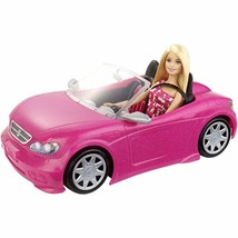 Barbie Doll and Glam Convertible Car Pink New - $29.99