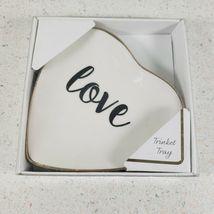 Original Ceramic Heart Shape Ring Dish Holder Jewelry Trinket Tray Dish ... - $18.76