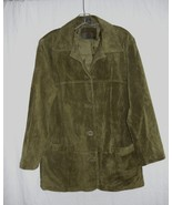 St. John's Bay Suede Olive Green Jacket-M  For the Tough Woman with Style  - $20.00