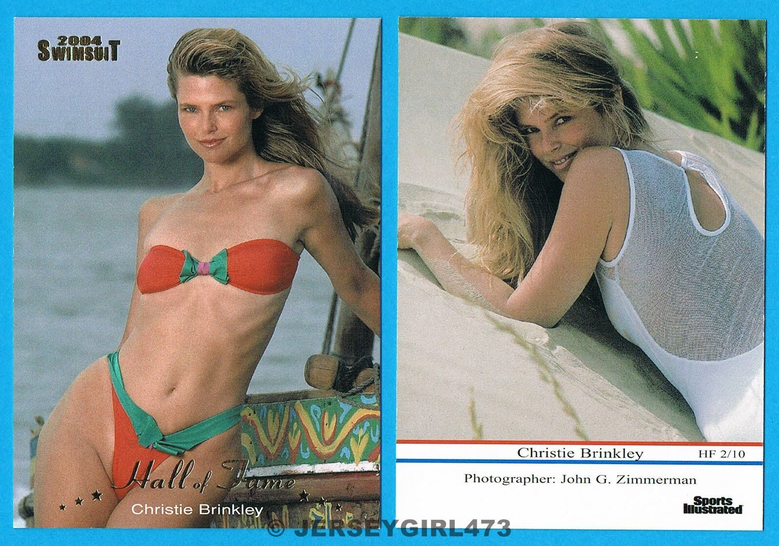 Christie Brinkley 2004 Sports Illustrated SI Swimsuit Hall of Fame Insert Card