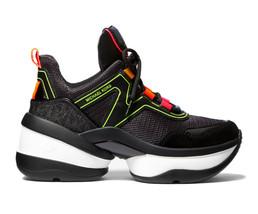 Michael Kors MK Women's Olympia Trainer Scuba Dad Sneaker Shoes Black image 2