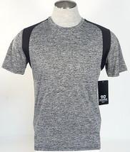 90 Degree By Reflex Charcoal & Black Short Sleeve Athletic Shirt Mens NWT - $37.49