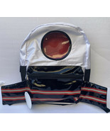 Space Rockets Backpack Wonder Nation Boys Life Black White Red New - $22.44