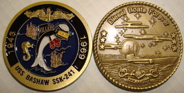 Uss Bashaw SSK-241 Diesel Boats Forever Navy Military Submarine Challenge Coin - $27.07