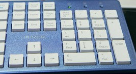 iRiver Korean English Keyboard USB Wired Membrane Cover Skin Protector (Blue) image 2