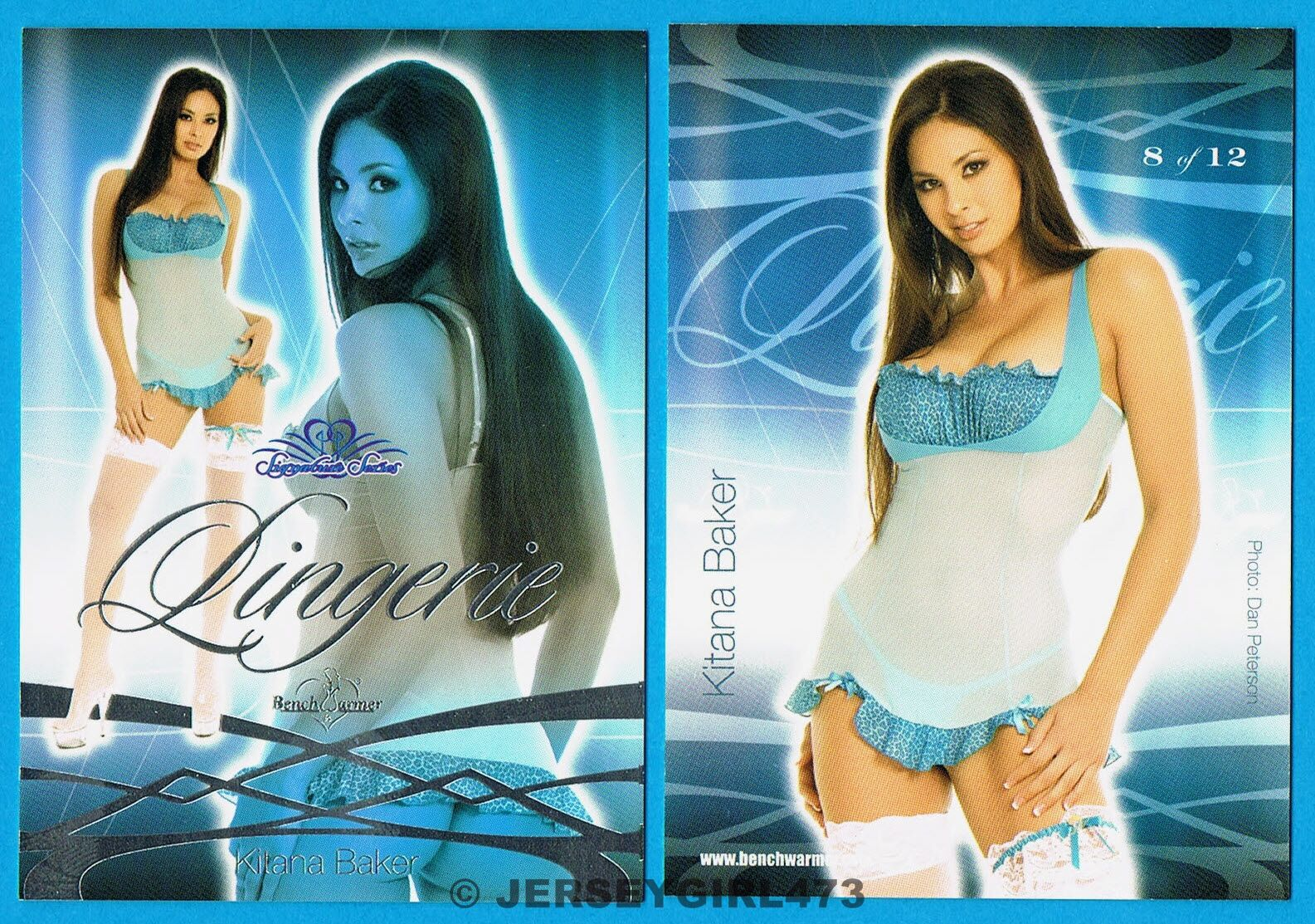 Kitana Baker 2008 Bench Warmer Signature Series Lingerie Foil Card #8