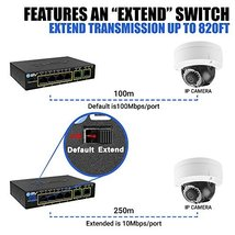 BV-Tech 4 Port PoE+ Switch with 2 Ethernet Uplink and Extend Function – 60W – 80 image 5