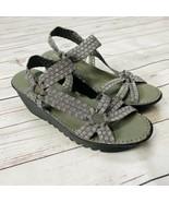 Bernie Mev Sandals Womens Platform Wedge Shoe Size 41 10.5 11  Black Silver - $29.65