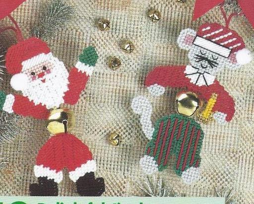 Jingle Bell Buddies Plastic Canvas Patterns
