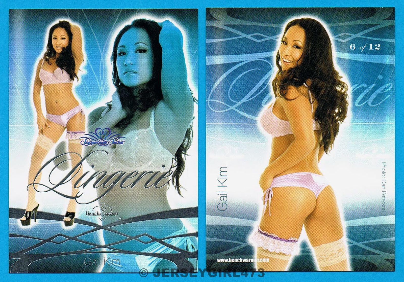 Gail Kim 2008 Bench Warmer Signature Series Lingerie Card #6 ~ WWE DIVA