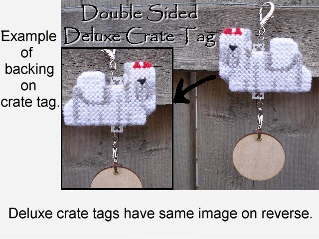 Standard Schnauzer Deluxe crate tag 2 sided, decor dog ornament, pick your color