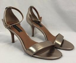 Steven by Steve Madden Vienna Gold Dress Sandals, Womens Size 9M - $18.99
