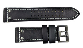 Genuine 26mm Luminox Atacama Field 1921/1941 Black Leather watch Band Strap - $79.95
