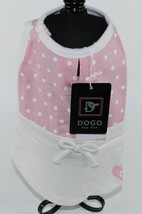 Dog Pet Animal Clothes Pink Lovely Polka Dot Dress Size XXS XX Small DOGO - $13.46