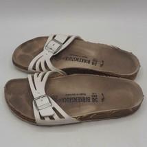 Birkenstock Deutschland 245 Damen Größe 7 Sandalen Schuhe Leder Weiß - $57.41