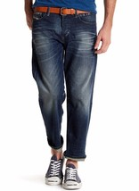 NEW DIESEL KHIRO REGULAR STRAIGHT STRETCH BUTTON FLY BLUE CROPPED JEANS ... - $69.29