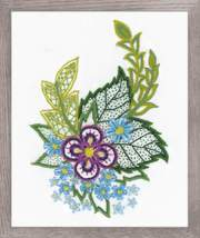 Sketch With Cornflowers Stitch Kit Riolis - $23.00