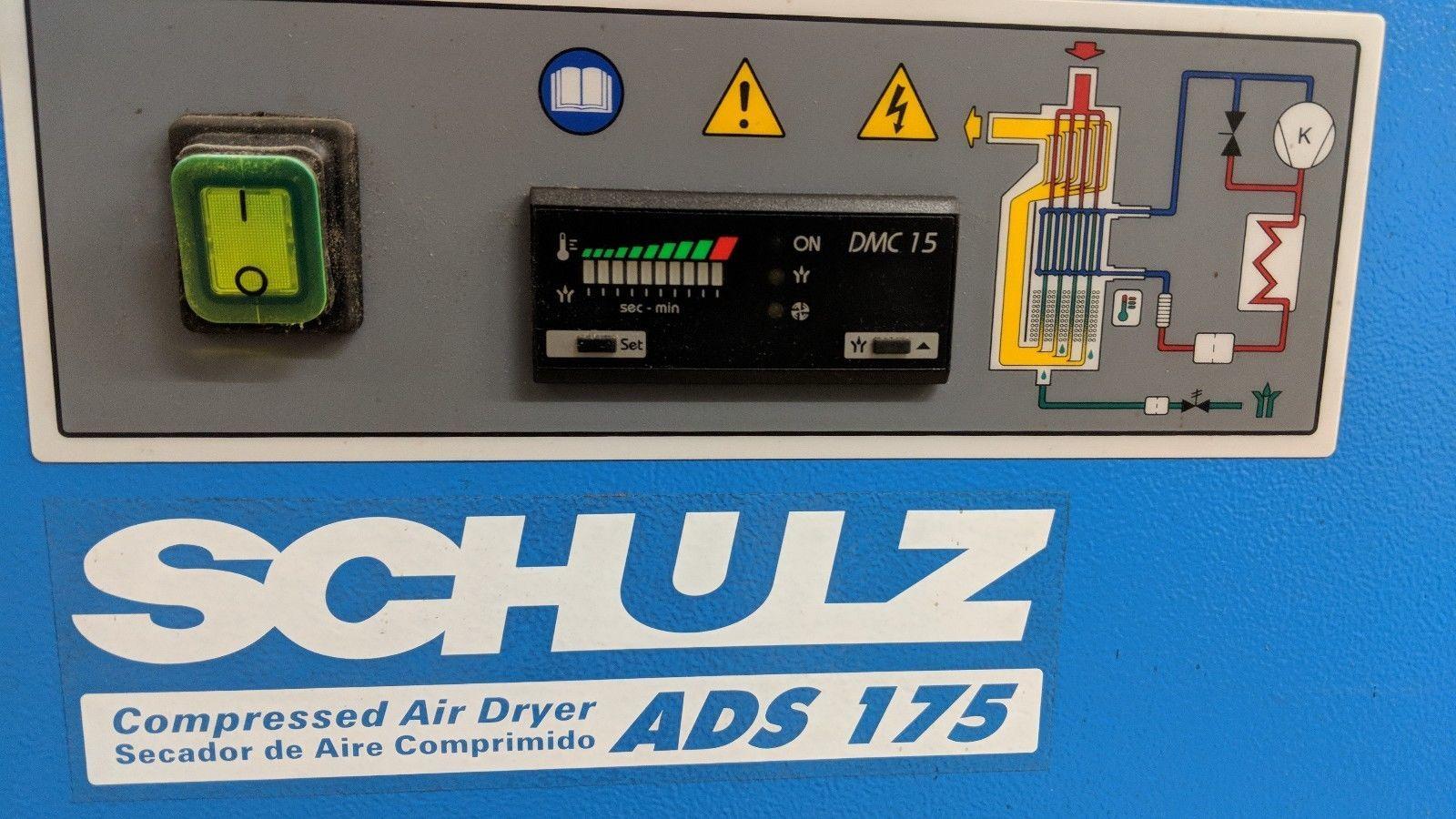 Schultz ADS175 Refrigerated Air Dryer 115 Volts 1 Phase up to 175cfm compressor