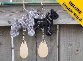 Standard Schnauzer Deluxe crate tag 2 sided, decor dog ornament, pick your color - $20.00