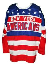 Any Name Number New York Americans Retro Hockey Jersey New Sewn Rey Any Size image 1