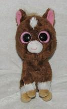 "Ty Beanie Boos Dakota Horse 6"" Plush Rare Solid Eyes Dark Brown Version ... - $12.86"