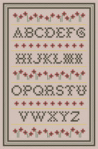 Red Poppy Sampler PDF cross stitch chart John Shirley new designer - $89,02 MXN
