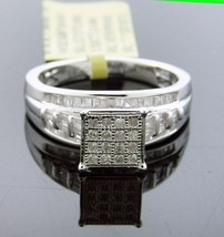 New Women 925 Silver.52CT Diamond Engagement Ring Size 7 Gold finished Look - $182.24