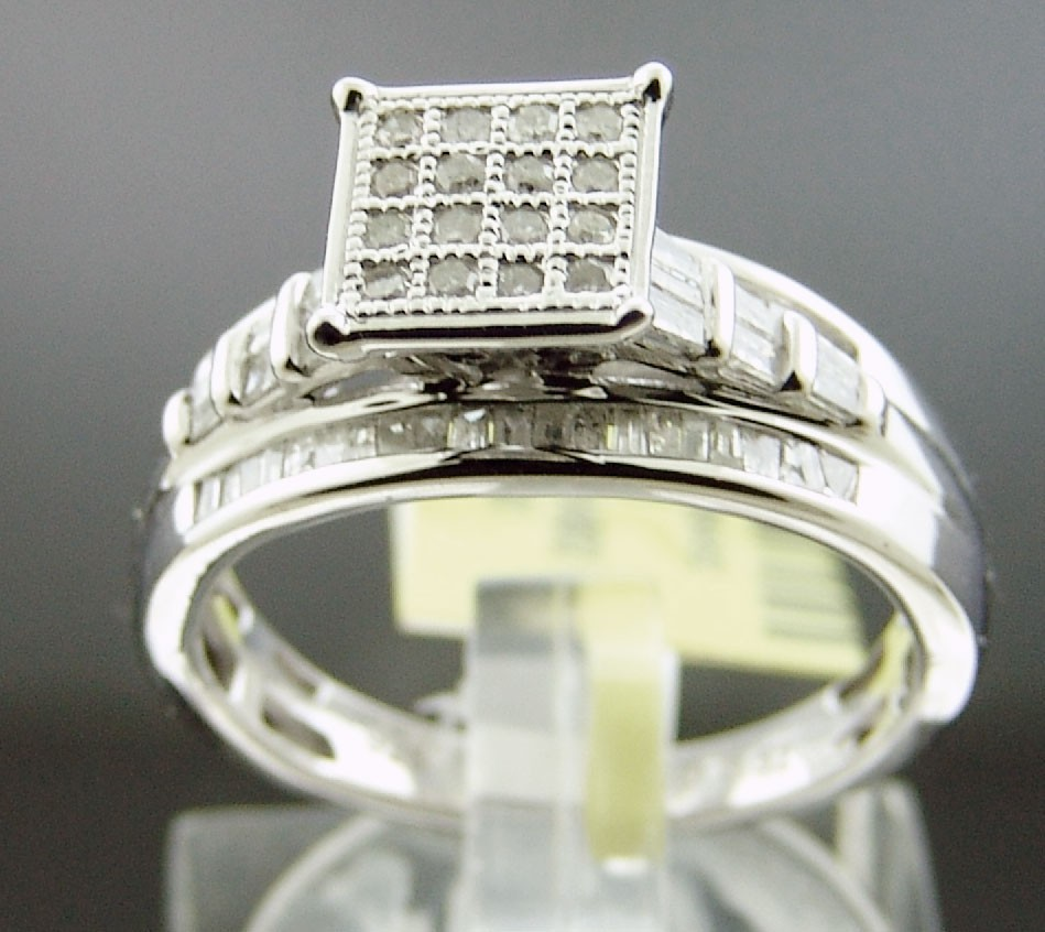 New Women 925 Silver.52CT Diamond Engagement Ring Size 7 Gold finished Look