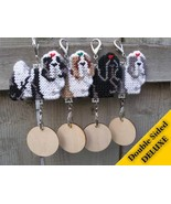 Shih Tzu Deluxe crate tag 2 sided, decor orname... - $22.00