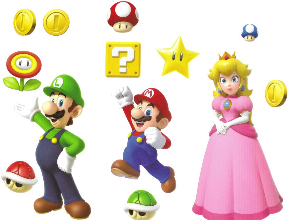 Roommates Super Mario Bros. Wall Decal Set RMK4345SS