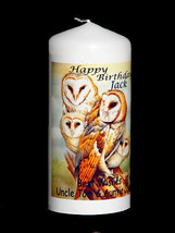 Cellini Candles Unique Barn Owl beautiful  Unique candle gift any occasion - $16.31