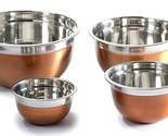 Stainless Steel Mixing Bowl Set copper color bpa free serving storage stackable