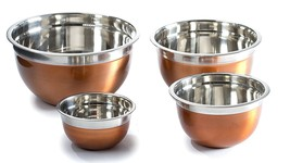 Stainless Steel Mixing Bowl Set copper color bpa free serving storage st... - $29.99