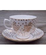 Royal Malvern Stars & Leaves Tea Cup & Saucer Set Mint - $19.95