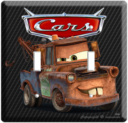 CARS 2 MATER TRUCK DISNEY MOVIE LIGHT SWITCH WALL PLATE COVER LIGHTNING MCQUEEN