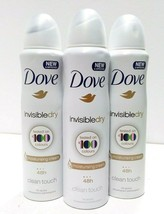 3 x Dove Invisible Dry Spray Deodorant Anti Perspirant 150 Ml / 5.07oz from USA  - $15.19