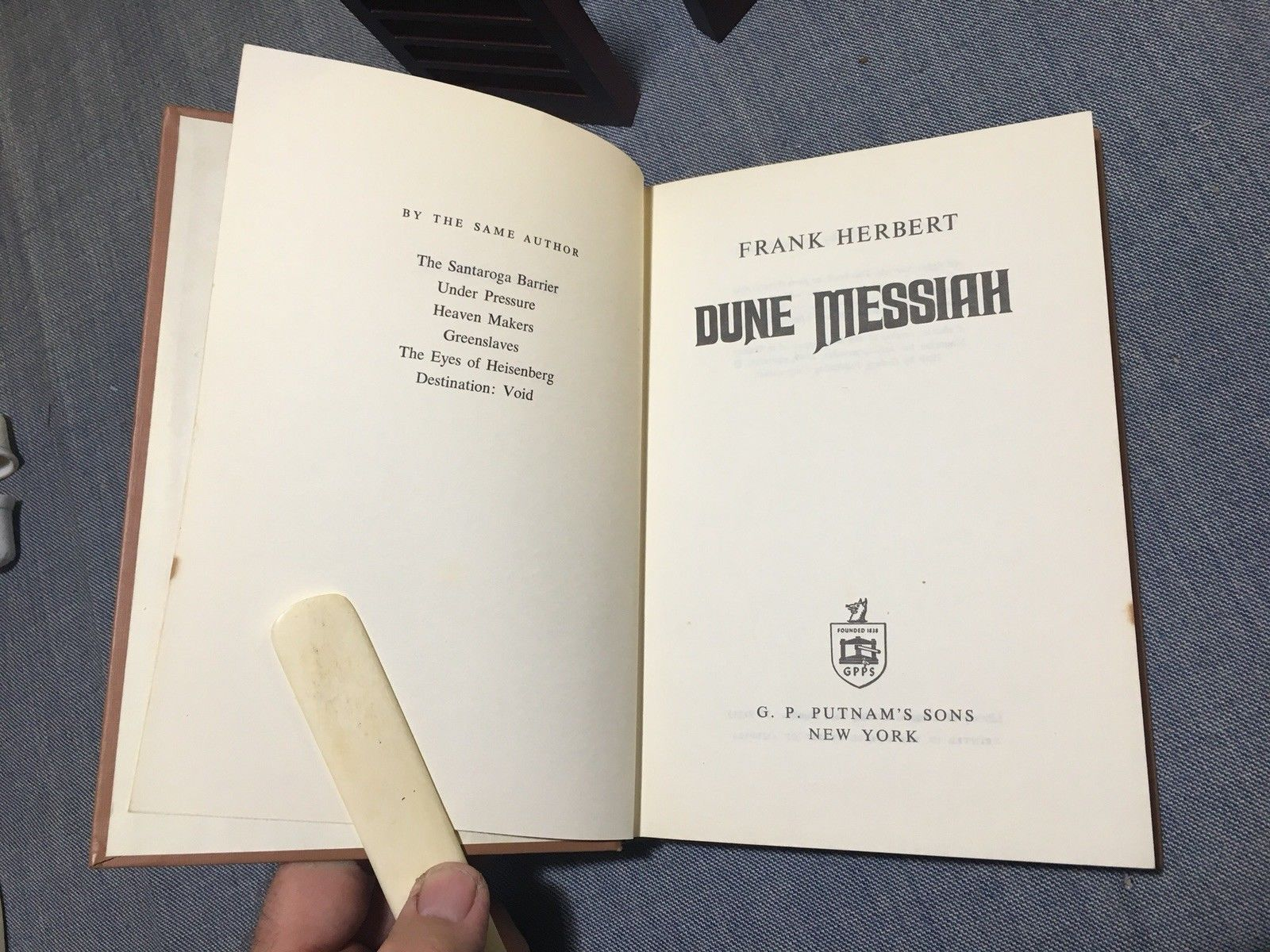 DUNE MESSIAH~ Frank Herbert - 1st In Original Jacket