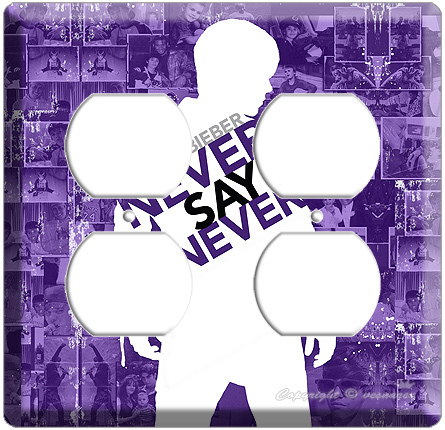 Primary image for JUSTIN BIEBER NEVER SAY PURPLE 3D POWER OUTLET WALL PLATE COVER MOVIE POSTER dvd