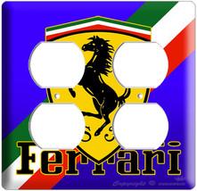 New Ferrari Sports Car Emblem Scuderia Logo Shield Power Outlet Wall Plate Cover - $11.99