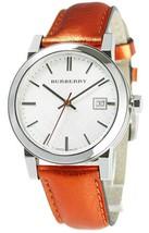 NWOT Burberry BU9121 Womens' Swiss Quartz Iridescent Red Leather Watch - $247.45
