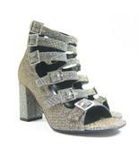 P-425139 New Saint Laurent Ciad Argento Gold Silver Glitter High Heels U... - $290.98