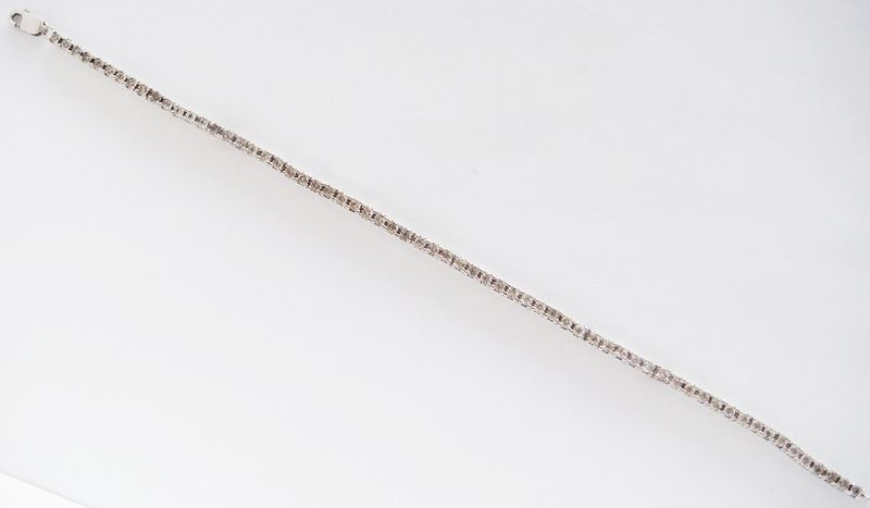 1/3CT DIAMOND TENNIS BRACELET .925 STERLING SILVER MOUNTING APRIL BIRTHSTONE