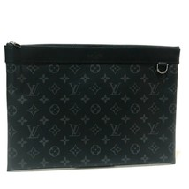 AUTHENTIC UNUSED LOUIS VUITTON Monogram-Eclipse Pochette Apollo Clutch M... - $880.00