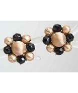 Accessocraft 60s Art Moderne Black Cut Glass Earrings - $12.82