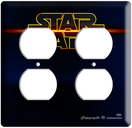STAR WARS DEEP SPACE LOGO  POWER OUTLET COVER PLATE LORD DARTH VADER ROOM DECOR