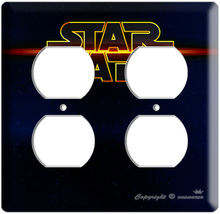 STAR WARS DEEP SPACE LOGO  POWER OUTLET COVER PLATE LORD DARTH VADER ROO... - $8.99