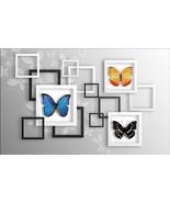 3D Butterfly specimens WallPaper Murals Wall Print Decal Wall Deco AJ WA... - €29,06 EUR+