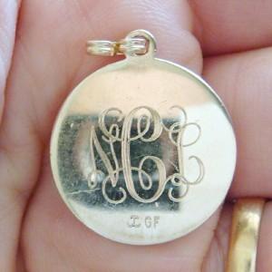 NICE 14K GOLD FILLED ANGEL CHARM BRACELET CHARM PENDENT